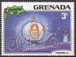 Sellos del Mundo : America : Antigua_y_Barbuda : Grenada 1981 Scott 1066 Sello Nuevo Disney Cenicienta Carroza y Hada Madrina