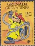 Sellos del Mundo : America : Granada : GRENADA GRENADINES 1979 Scott 352 Sello Nuevos Disney Año del Niño Goofy Bombero 2c
