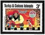 Sellos del Mundo : America : Islas_Turcas_y_Caicos : TURKS & CAICOS ISLANDS 1980 Scott462 Sello Nuevo Disney Escenas de Pinocchio Navidad 3c