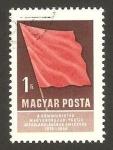 Sellos de Europa - Hungría -  40 Anivº del Partido Comunista, bandera