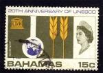 Sellos del Mundo : America : Bahamas : 20 Aniversario UNESCO