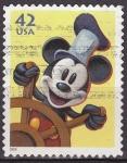 Sellos del Mundo : America : Estados_Unidos : USA 2008 Sello Disney Mickey Mouse Marinero usado 42c